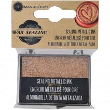 Brilho para selos de cera - Manuscript Decorative Sealing Metallic Ink Pad Gold