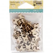 Enfeite em madeira - Jillibean Soup Wood Veneer Shaker Filler Butterflies
