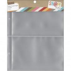 Refil plásticos 2 - 10x15cm  - Simple Stories Sn@p! Pocket Pages