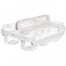 Organizador - Deflecto Caddy Organizer W/Sml, Med & Lrg Compartments White