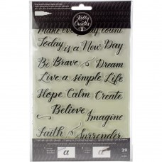 Carimbo - Kelly Creates Acrylic Stamps Floral Quotes 3