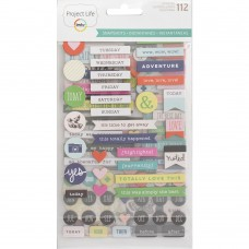 Adesivo chipboard - Project Life Chipboard Stickers