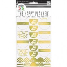 Adesivo - Happy Planner Stickers 5/Sheets To Do, Gold Foil