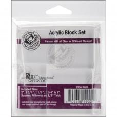 Bloco de acrílico - Acrylic Block Set 5/Pkg
