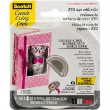 """Cola - Scotch Advanced Tape Glider Acid-Free Refills 2/Pkg .25""""X36yd Each"""