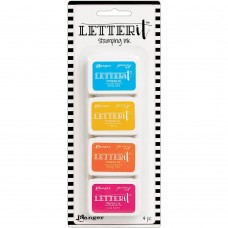 Kit de Carimbeira - Ranger Letter It Stamping Ink Set #3