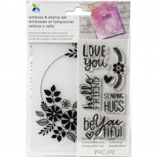 Placa de emboss + Carimbo - Momenta Embossing Folder & Stamp Set Love You