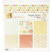 Kit de papel - Simple Stories Simple Sets Collection Kit  Bunnies & Baskets