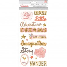 Adesivo chipboard - Little Adventurer Thickers Stickers Girl