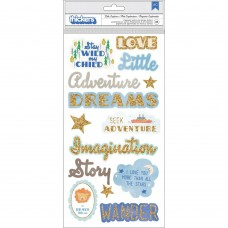 Adesivo chipboard - Little Adventurer Thickers Stickers Boy