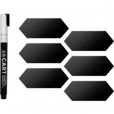 Rótulo magnético - We R A La Cart Magnetized Chalkboard Labels 8/Pkg