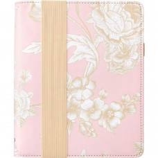 Caderno de anotações com capa  - Color Crush A5 Travel Notebook W/Journal Pink Floral
