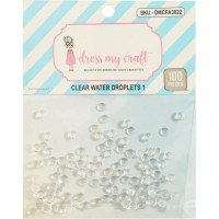 Enfeite - Dress My Crafts Water Droplet Embellishments 6mm