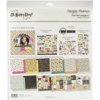 Kit de papel - Simple Stories Collector's Essential Kit Oh Happy Day