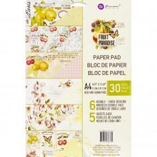 Bloco de Papel - Prima Marketing Double-Sided Paper Pad A4 30/Pkg Fruit Paradise