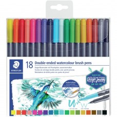 Caneta Aquarelável - Marsgraphic Duo Double Ended Watercolor Brush Markers