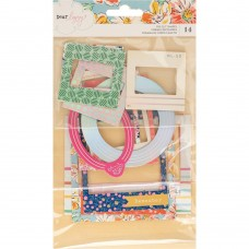 Recortes em cardstock - Dear Lizzy She's Magic Ephemera Die-Cuts Chipboard Frames