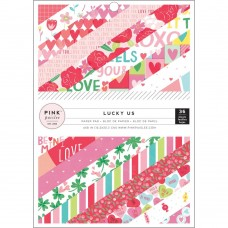 Bloco de Papel - Pink Paislee Single-Sided Paper Pad Lucky Us