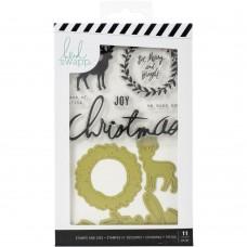 Carimbo e faca de corte - Heidi Swapp Winter Wonderland Stamp & Die Set