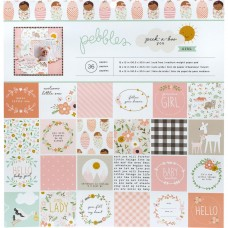 Bloco de Papel  - Pebbles Single-Sided Paper Pad Peek-A-Boo You Girl