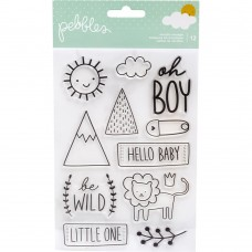Carimbo - Pebbles Peek-A-Boo You Clear Stamps Boy