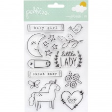 Carimbo - Pebbles Peek-A-Boo You Clear Stamps Girl