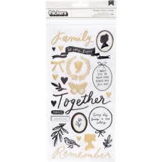 Adesivo - Maggie Holmes Heritage Thickers Stickers  Heartfelt Phrase & Icons/Puffy
