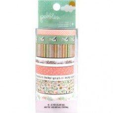 Washi tape - Peek-A-Boo You Washi Tape 8/Pkg Girl