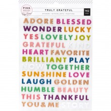Adesivo - Paige Evans Truly Grateful Puffy Stickers  Words