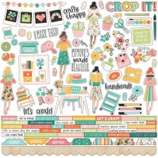 Adesivo - Crafty Girl Cardstock Stickers