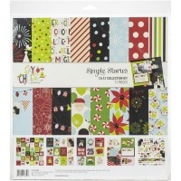 Kit de papel - Simple Stories Collection Kit  Say Cheese Christmas