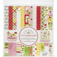 Kit de papéis - Doodlebug Double-Sided Paper Pack  Christmas Magic