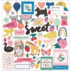Adesivo chipboard - Maggie Holmes Sweet Story Chipboard Stickers