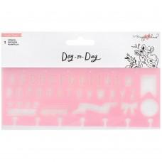 Stencil - Maggie Holmes Day-To-Day Planner Stencil Alphabet