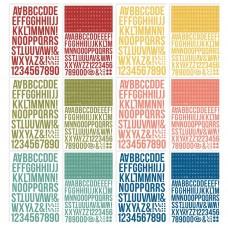 Alfabeto - Simple Stories Color Vibe Alpha Sticker Book Bold