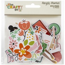 Recortes em cardstock - Hey, Crafty Girl Bits & Pieces Die-Cuts 51/Pkg