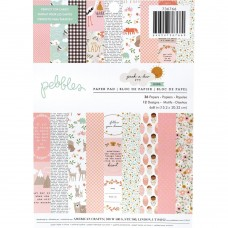 Bloco de Papel - Pebbles Single-Sided Paper Pad Peek-A-Boo You Girl 6X8