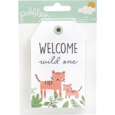 Enfeite - Peek-A-Boo You Boy Cardstock Tags