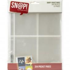 Refil plástico - 10x7,5cm  - Simple Stories Sn@p! Pocket Pages