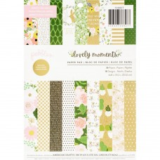 Bloco de Papel - Pebbles Single-Sided Paper Pad  Lovely Moments