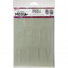 Stencil - Dina Wakley Media Stencils + Masks Alpha