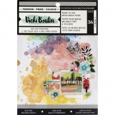 Bloco de Papel - Vicki Boutin Mixed Media Backgrounds Paper Let's Wander