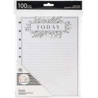 Refil Happy Planner - Happy Planner Block Pad Black & White Floral
