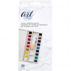 Aquarela - Art Supply Basics Watercolor Travel Set  Solid