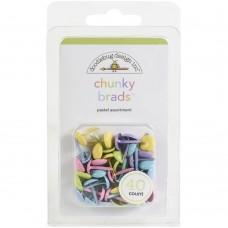 Bailarina - Doodlebug Chunky Brads Pastel Assortment, Bundle Of Joy