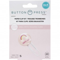Refil para clips - We R Memory Keepers Button Press Paper Clip Backers Makes 5