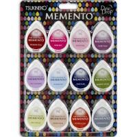 Kit de Carimbeira - Memento Dew Drop Dye Ink Pads 12/Pkg Sorbet Scoops