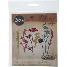 Faca de corte -  Sizzix Thinlits Dies By Tim Holtz 7/Pkg Wildflowers