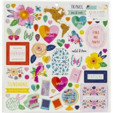 Adesivo chipboard - Paige Evans Go The Scenic Route Chipboard Stickers