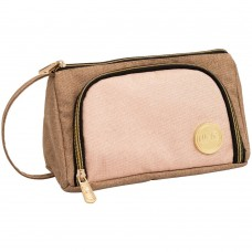 Bolsa - We R Memory Keepers Crafter's Pencil Pouch Taupe & Pink